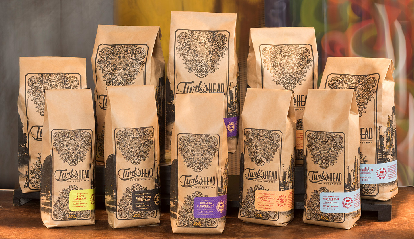 Turk's Head Coffee Packaging